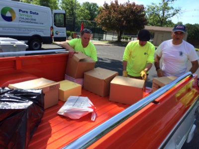 Detroit Michigan Shredding Day at Pure Data Services