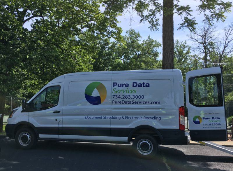 Mobile Shredders Pure Data Services Truck in Detroit Michigan
